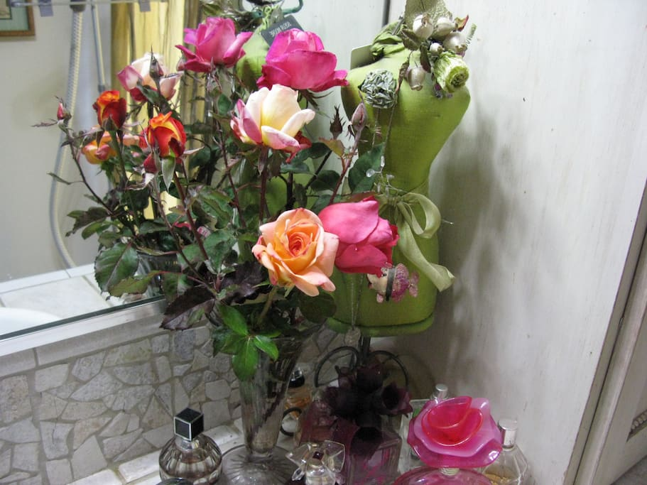 Fresh flowers in your room.