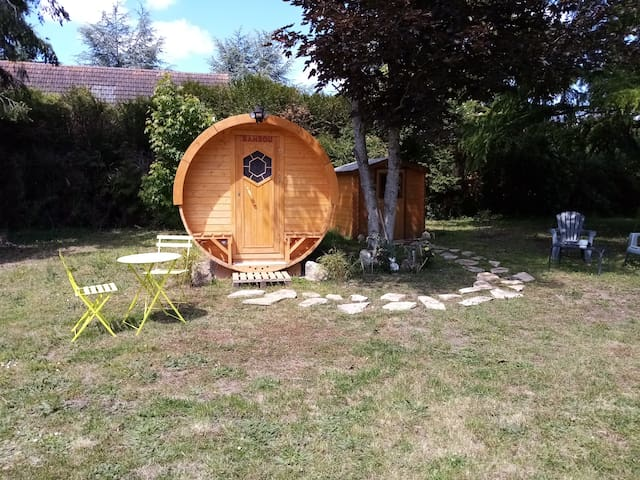 Tonneau en bois, logements insolites