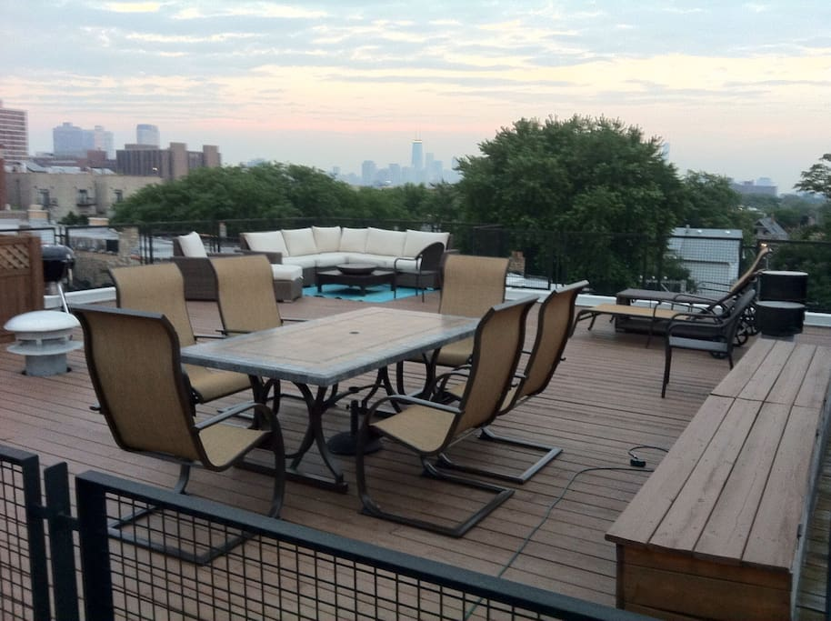 Large private roof deck