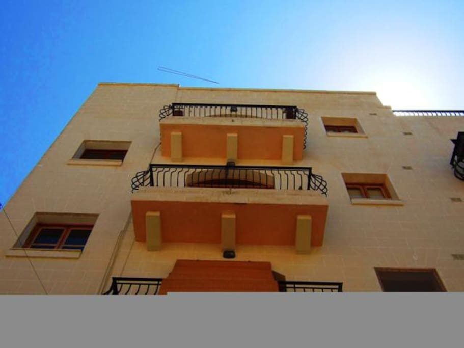 building in quite residential street few minutes away from promenade and sea