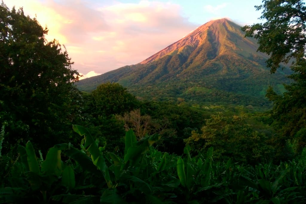 Ometepe's famed Concepcion in the evening light