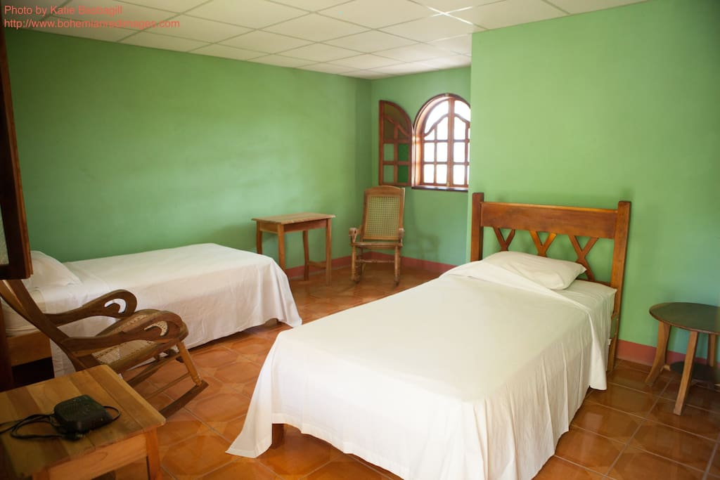 Ometepe Cabin room with private bathroom on Quinta Linda Vista.