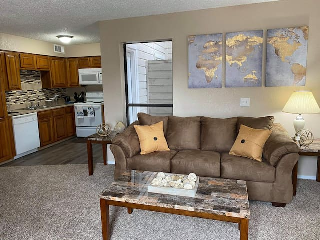 Spacious 1 Bedroom Condo W/D & Fireplace (60-103)