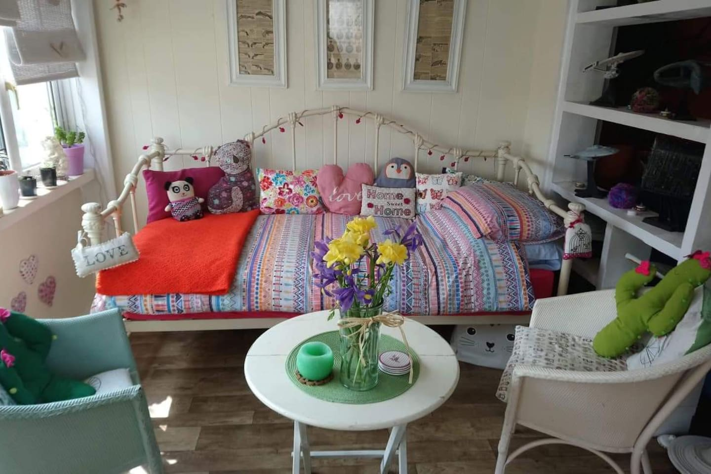 The day bed in the public sun room