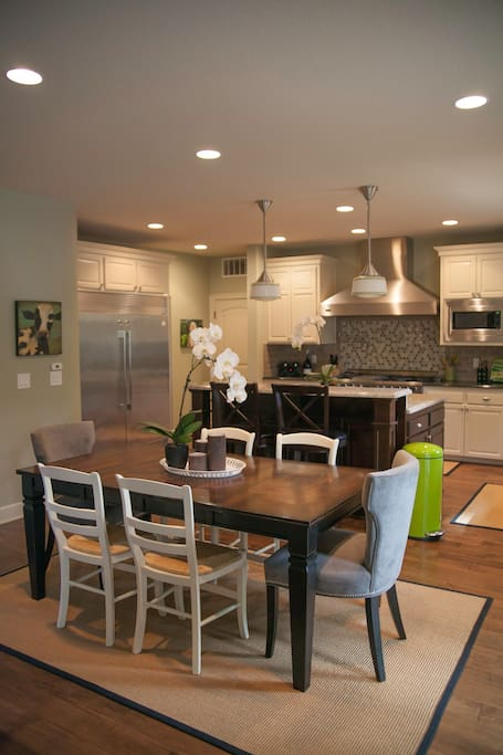 Informal dining. Kitchen.  Oversized Refer and Freezer