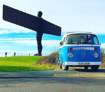 Baby Blue, a luxury Classic VW Campervan