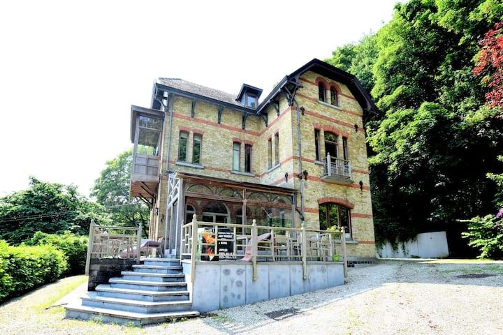 A beautiful Art Nouveau house with an enormous garden.