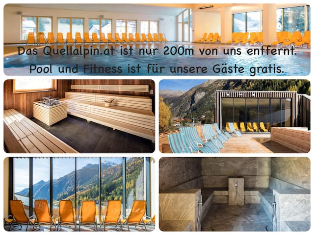 quellalpin.at, a new spa, just 200 m nearby. pool & gym are free for our guests!