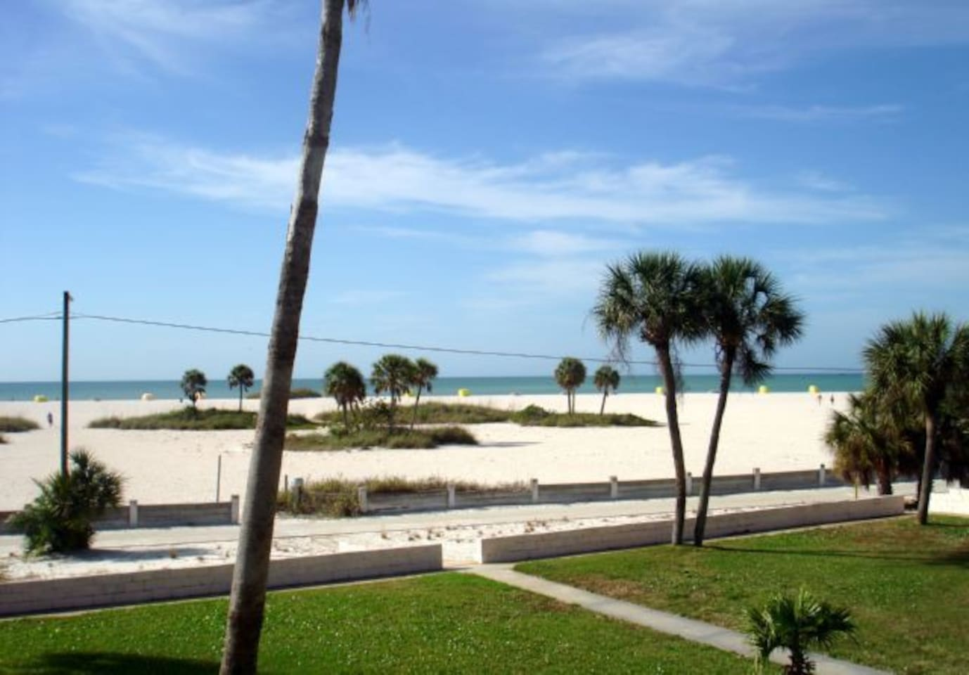 View from the condo complex - YES THATS THE BEACH!
