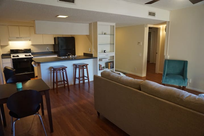 Downtown condo with private yard