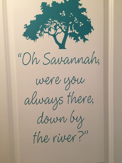 The door to the Savannah Room!