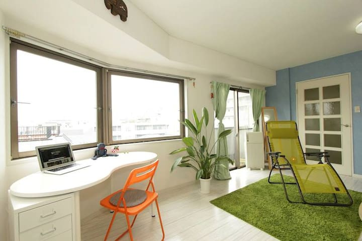 Spacious Sunny apt. close to Shibuya with P-Wifi - Setagaya - Wohnung