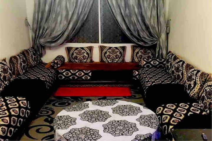 Belle chambre avec vue sur la Mosquée Hassan II