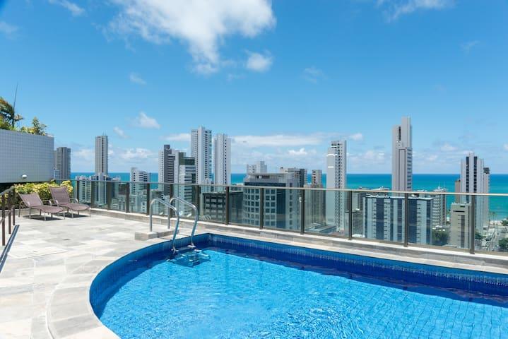 BOA VIAGEM NOVINHO C/ 2 QUARTOS - Recife - Apartment