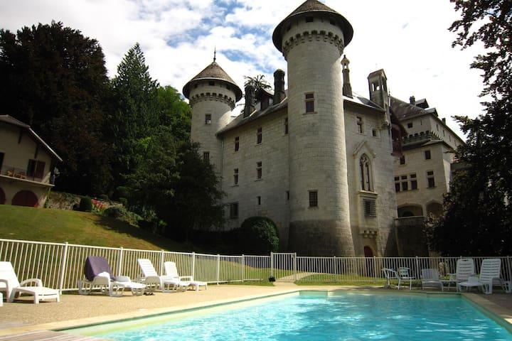 Acogedor castillo en Serrières-en-Chautagne con piscina
