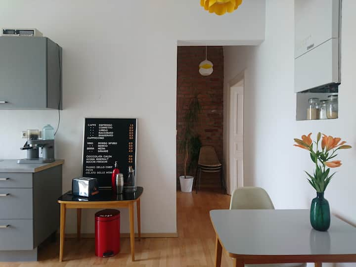 room (23 m²) in quiet stylish flat with balcony