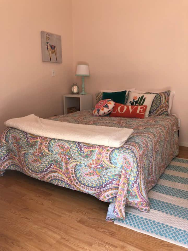 Comfortable, clean & private master bedroom