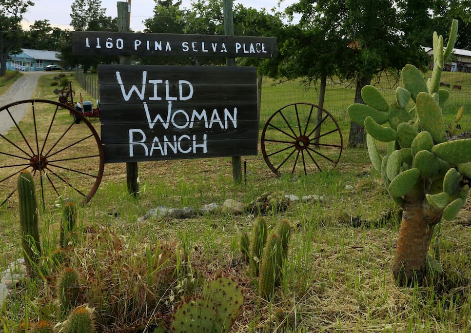 The entering into the ranch.