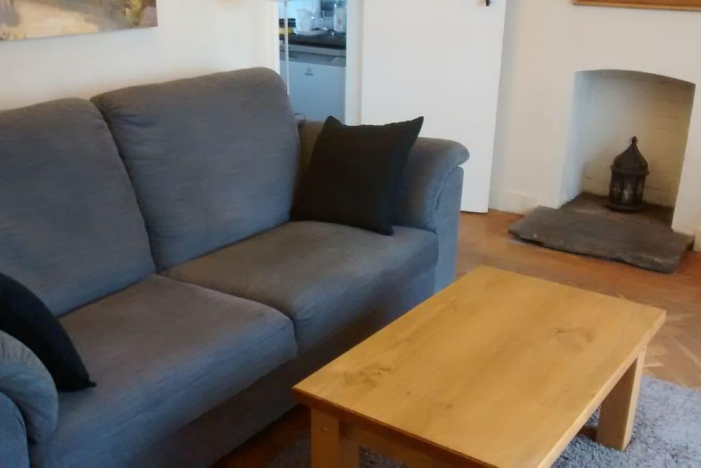 Sofa & Fireplace