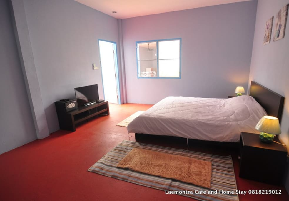 large comfortable bedroom with own toilets