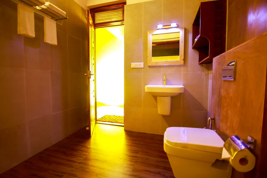Bathroom with 24 hours hot water