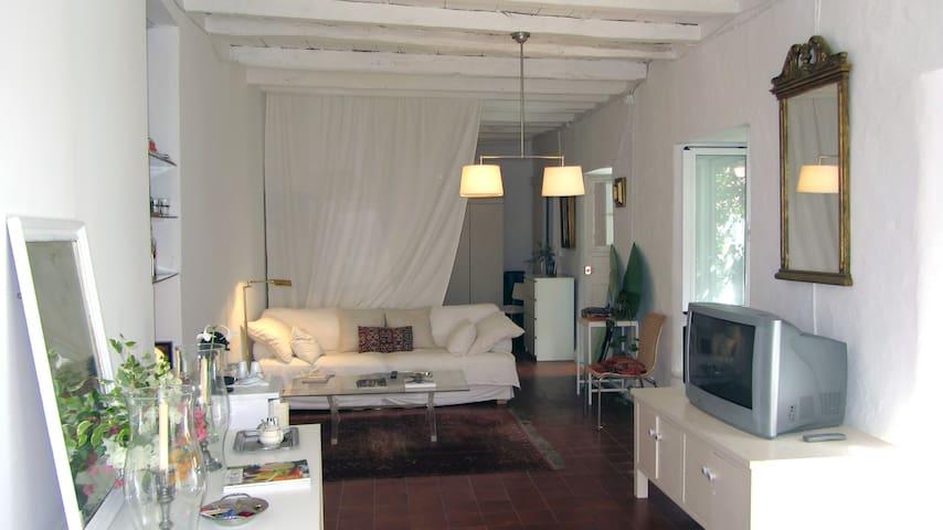 Loft con terraza y jardín
