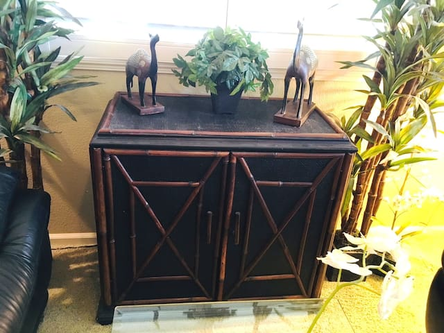 Parlor - Bamboo Cabinet