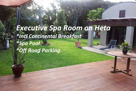(SPECIAL)  EXECUTIVE SPA Room on Heta - New Plymouth - Bed & Breakfast