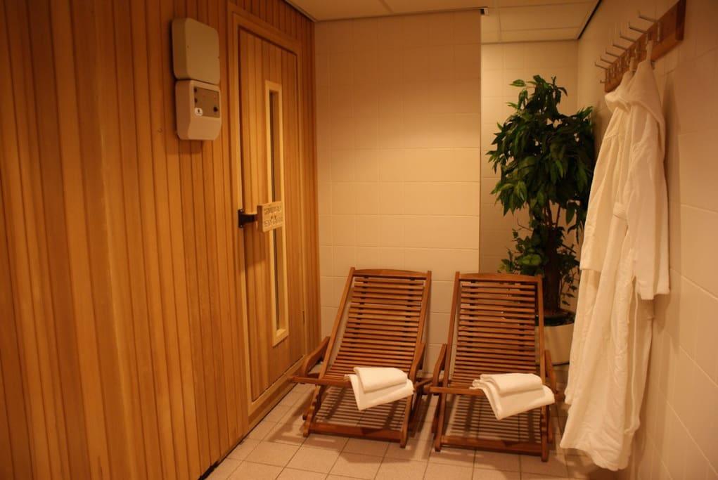 Geniet van de faciliteiten, waaronder de sauna!