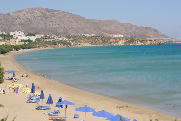 Ikaros apt with 1 bedroom, sea view - Makry Gialos - Appartement