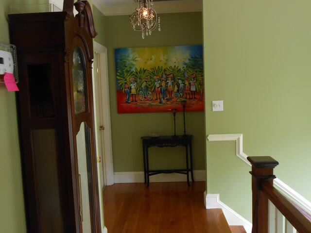 Upstairs hallway where 3 Bed rooms are located