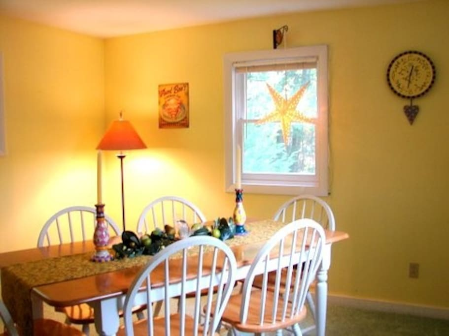 Bright diningroom right off the galley kitchen