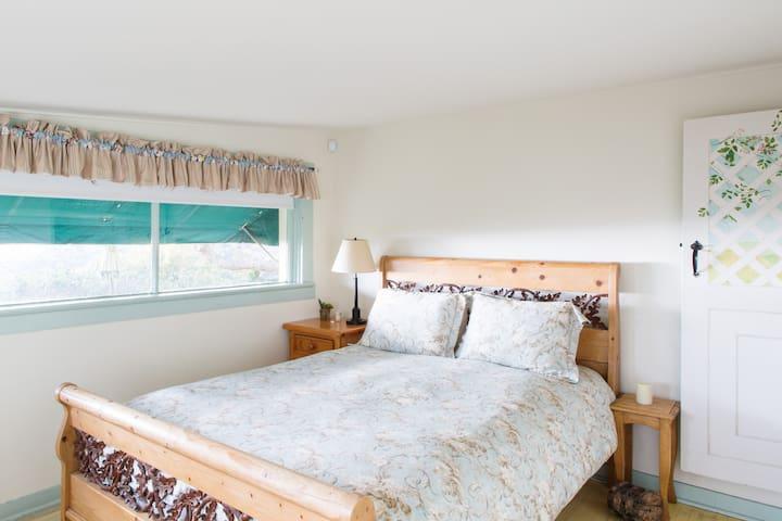 Downstairs bedroom with ocean view