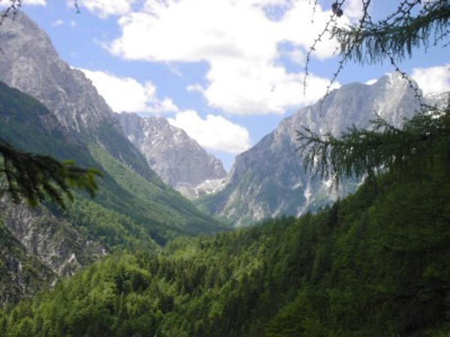 Vrata valley from Mojstrana