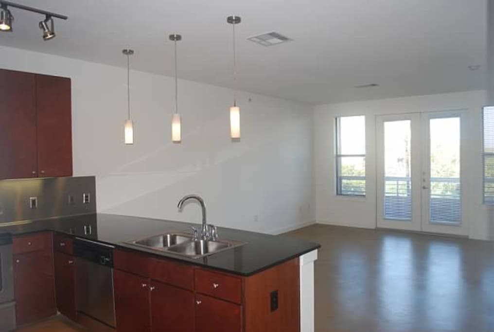 Kitchen / living room - there IS furniture now; will post updated picture(s).