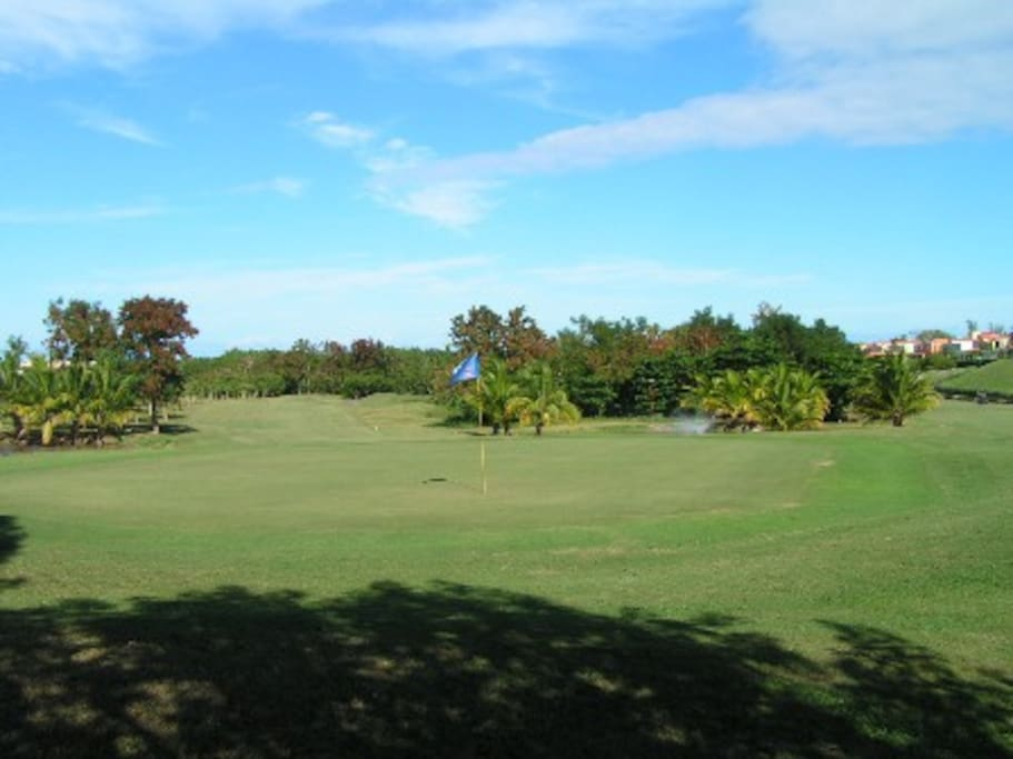 18 hole golf course, carts and clubs for rent