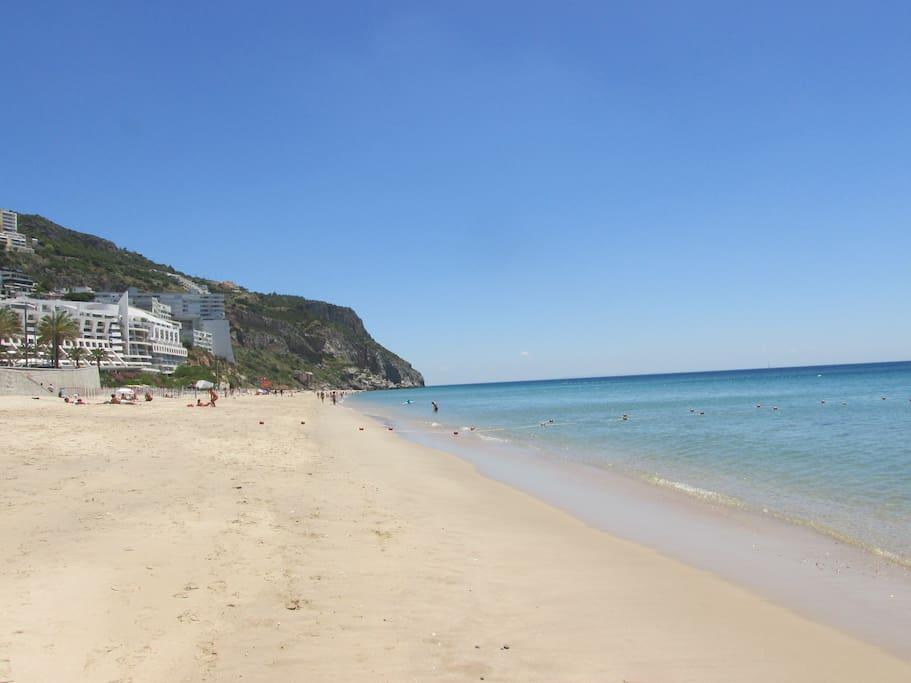 A praia...