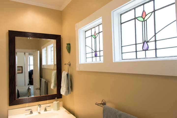 Stained glass for beauty and privacy