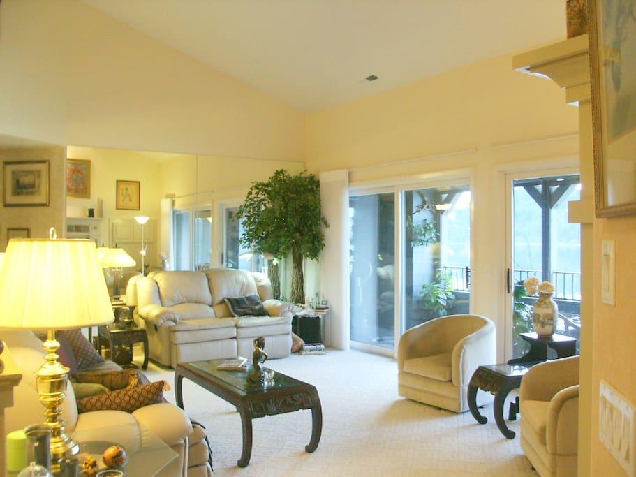 livingroom and partial view of veranda