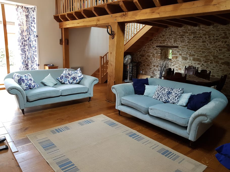 lounge area in the barn