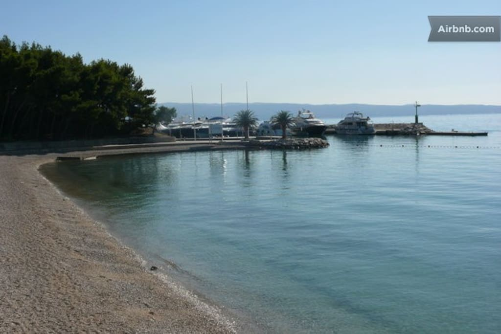 Beautiful beach 700 m from our apartments