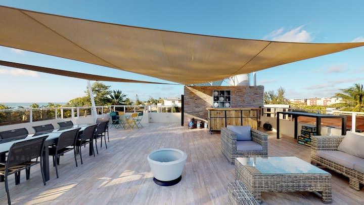 Magnifique Penthouse 2ch, vue mer et plage à 80 m