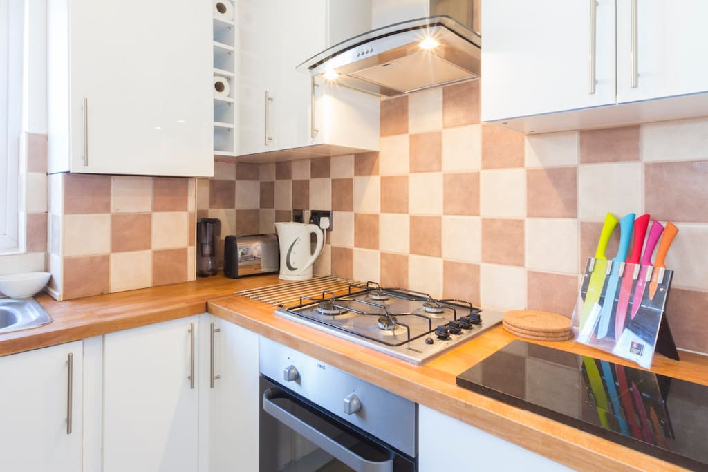 Brand New kitchen complete with all utensils, dishwasher, washing machine dryer and basics