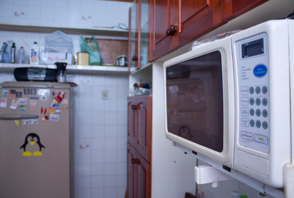 Direito a usar microondas e demais utensílios da cozinha.