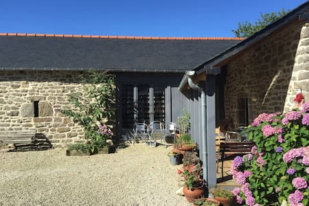 B&B for 1 - 3 people, private bathroom, TV, etc - Trébry - Byt