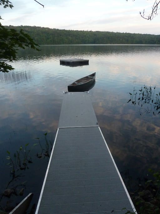 Private dock, canoe and kayak provided, and private swim float