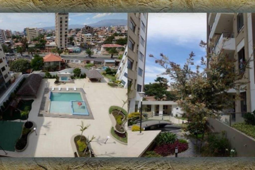 Вид на двор из окна квартиры.