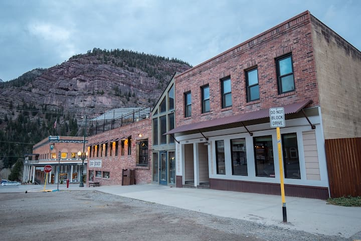 Ouray Hostel is just steps off of Main Street and directly behind the Ouray Brewery