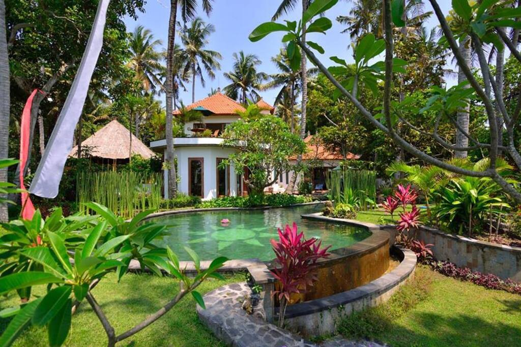 Villa Surya  sleeps 5/6  & Villa Chandra next to it sleeps 4  Jasri ~ East Bali