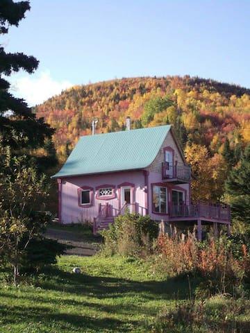 Maison de vacances L'Épilobe 4 saisons avec vue sur le fleuve et au sud la montagne!